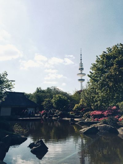 Japanese Garden Fernsehturm Japanese Garden Hamburgmeineperle HAMBURG ... Moin Moin Hamburg Water Architecture Built Structure Tree Sky Outdoors Day Nature City