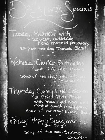 Eat up! EaglesLanding Familyowned DailyLunchSpecials Foodspotting Food And Drink Blackboard  Handwriting  No People Communication Close-up Choice Backgrounds