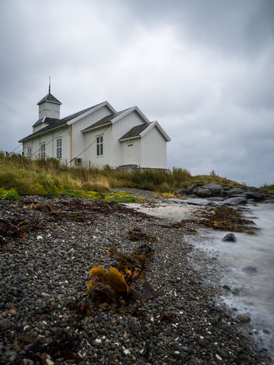 Animal Themes Architecture Building Exterior Built Structure Church Day Gimsoy Gimsøy Kirke Landscape Landscape_Collection Lofoten Lofoten Islands Mammal Nature No People Norway One Animal Outdoors Sky Water