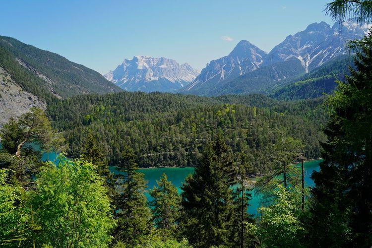 Alpen Blindsee Tirol  Zugspitzblick