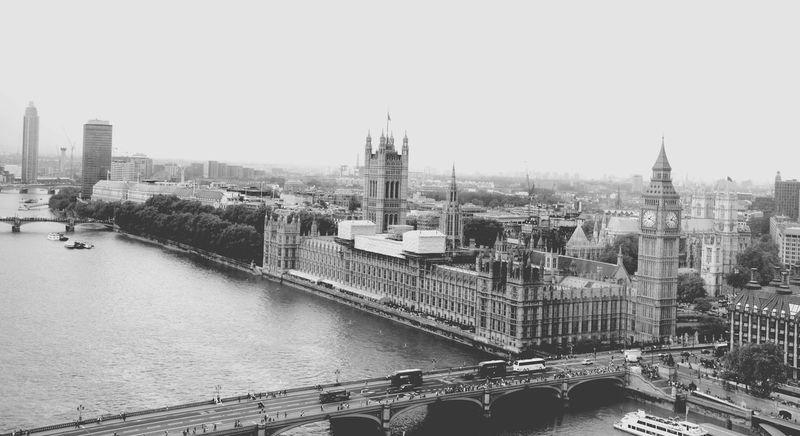 View of the Big Ben from the London Eye Sightseeing View Historical Sights Enjoying Life Being A Tourist EyeEm Best Shots Eyeem Black And White Photography Blackandwhite Photography EyeEm Gallery London LONDON❤ London Trip Buildings & Sky EyeEm Best Shots - Black + White