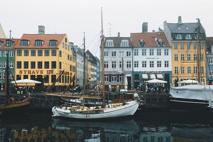 Paint The Town Yellow Architecture Building Exterior Built Structure City Day Harbor Mast Mode Of Transport Moored Nautical Vessel No People Outdoors Sky Transportation Travel Destinations Water Waterfront