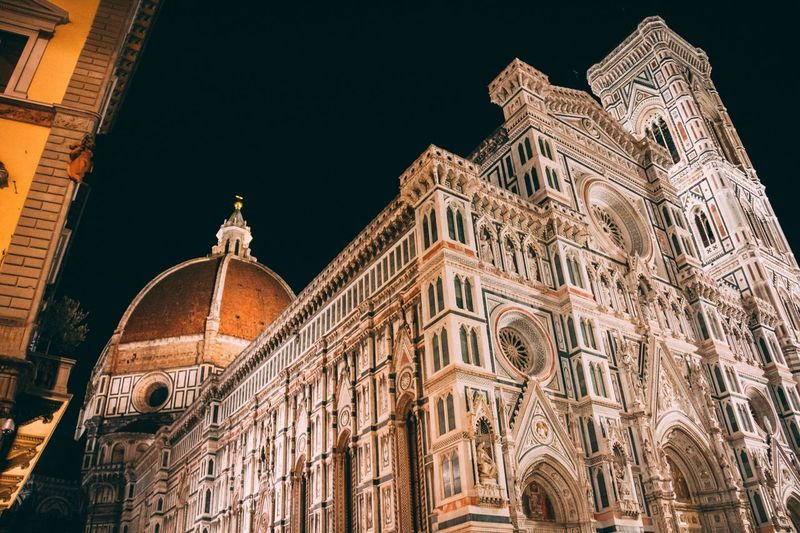 Florence night shot Italia Firenze Italy Dome Brunelleschi Florence Italy Building Exterior Built Structure Architecture Low Angle View Building Travel Destinations The Past No People Travel City Night Outdoors