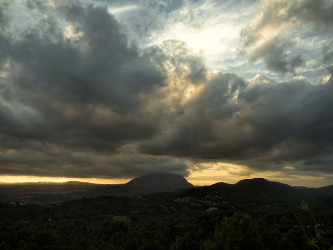 Sunset in Ullastrell - Catalunya Awe Beauty In Nature Cloud - Sky Day Idyllic Landscape Majestic Mountain Nature No People Outdoors Scenics Sky Sunset Tranquil Scene Tranquility