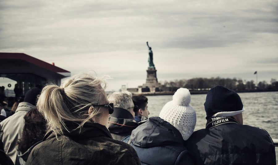 Peoplephotography Cruise Ship Scenery Shots Ellis Island  Statue Of Liberty What Are YOU Looking At? RePicture Travel