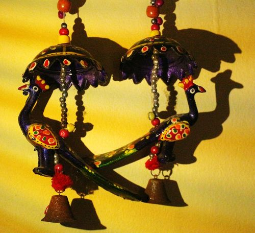 Hanging Close-up Art And Craft Indoors  Shadow RajasthanArt Mobile Light