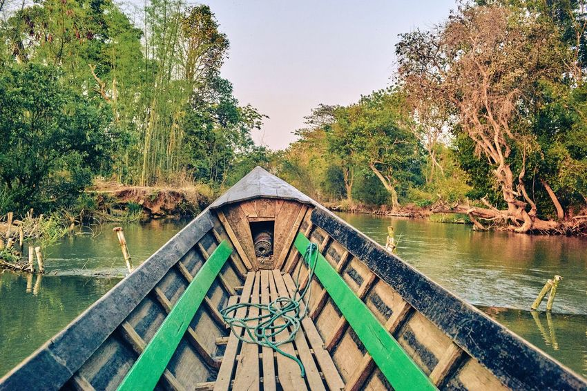 Tree Water Day Nature No People Lake Outdoors Scenics Tranquil Scene Wood - Material Tranquility Growth Beauty In Nature Clear Sky Sky Architecture Nautical Vessel Animal Themes Inle Lake Myanmar