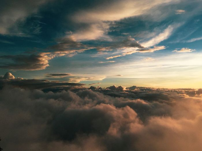 above the cloud Cloud - Sky Sky Beauty In Nature Scenics - Nature Sunset Tranquility Tranquil Scene Environment Nature Cloudscape Landscape Sunlight Outdoors Atmospheric Mood Dramatic Sky