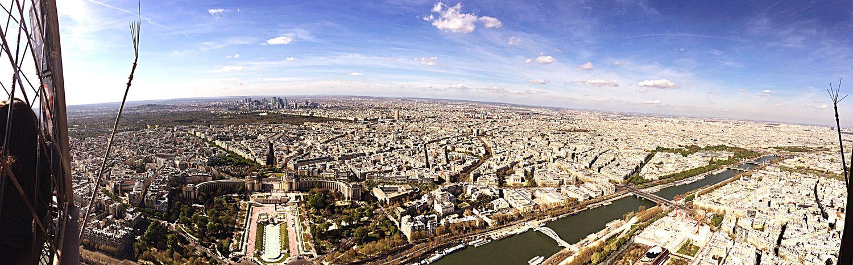 Panorama Paris Landscape City Capitale Laseine Trocadero Monuments Architecture
