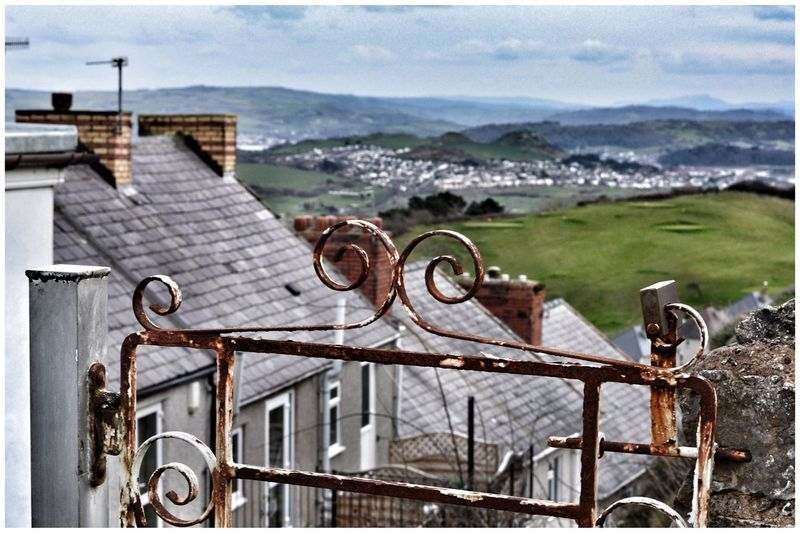 Rusty Gate on descent from Great Orme with Conwy in distance Rusty Things Rust Metal Gates Snowdonia Paint Peeling Paint Eyeemphotography EyeEm Gallery Eyemphotography Eye4photography  EyeEm EyeEm Best Shots