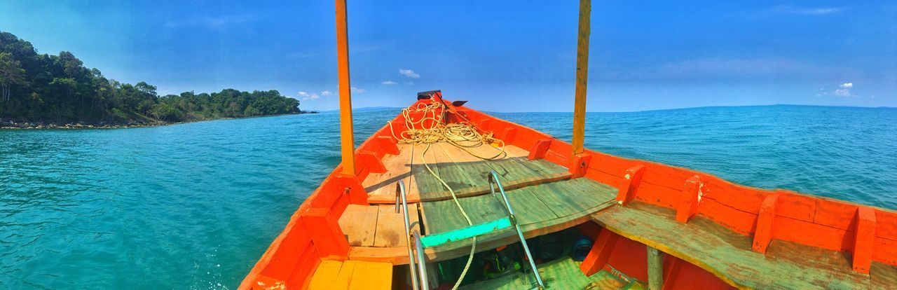 On a boat... Sea Water Sky Beauty In Nature Nature Scenics Nautical Vessel Outdoors Tranquility Tranquil Scene No People Day Horizon Over Water