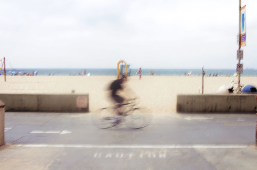 Beach Bicycle Bike Biking Blur Day Excercising Exercise Fun Healthy Healthy Lifestyle Healthy Living Horizon Over Water Leisure Activity Lifestyles Motion Blur Nature Outdoors Path Riding Riding Bike Sea Sky Water