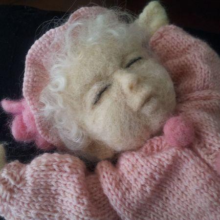 Baby Jane. Needle felted Handmade By Me Artdolls Baby Hello World