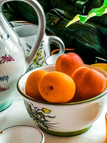 Rainy day in Salzburg One of my favorite times in my life... Fruit Indoors  Food And Drink Bowl Healthy Eating Close-up Leaf Apricots Still Life Salzburg Mondsee Pottery Austria