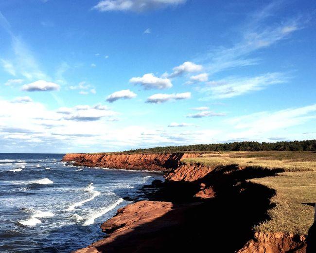 Red dirt Blue sky PEI Protecting Where We Play Princeedwardisland Canada Red Dirt Ocean View Blue Sky