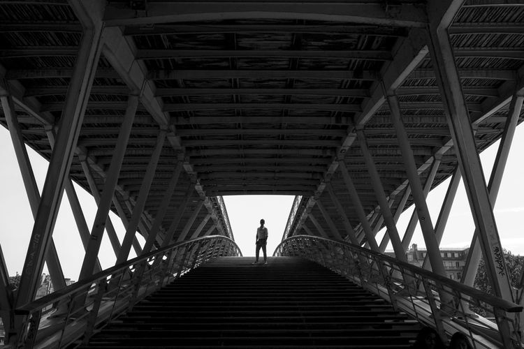 Architecture Blackandwhite Bridge Built Structure Fujifilm Metal Sihouette  Symmetry
