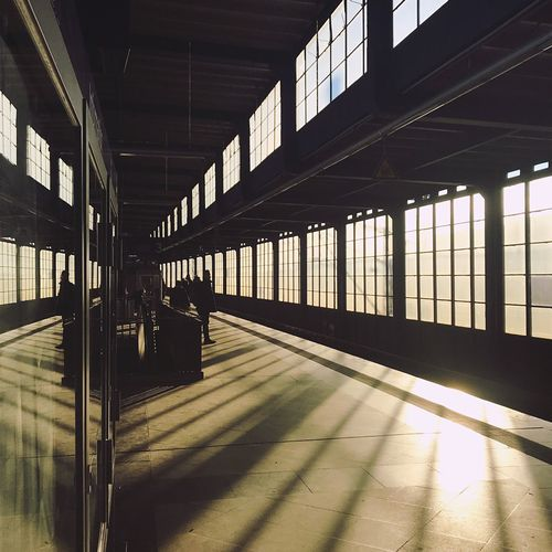 View inside the jannowitzbruecke sbahn station during the sunrise