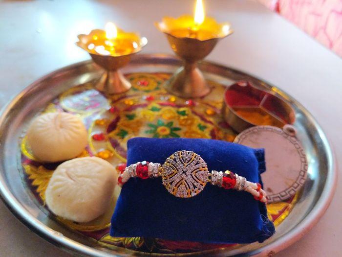 #rakhi #rakshabandhan Diya - Oil Lamp Diwali Bowl Religion Plate Tradition Burning Close-up