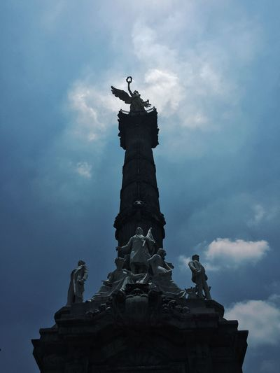 Ángel de la Independencia || Sculpture Zoom Mexico Culture Independence Day Beautiful Mexico Mexico City Independence Angel Angel De La Independencia Sculpture Statue Sky Representation Cloud - Sky Art And Craft Low Angle View Architecture Day Travel Destinations