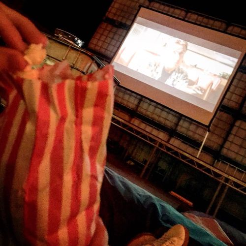 Outdoor Cinema Blanket Popcorns Cwtched Up One Person Indoors  Human Body Part One Man Only Men Adults Only Adult People Close-up Day