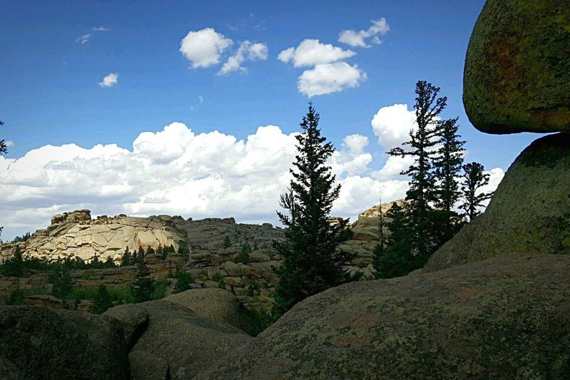 Wyoming Rock Formation Enjoying Life Wyoming USA Beauty Everywhere On A Hike Taking Photos Blue Sky And Clouds State Park  Amazing Nature