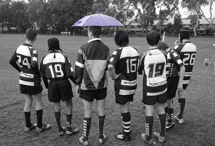 The rugby subs .. XperiaZ5 Rugby Colour Pop Leederville Rugby Oval