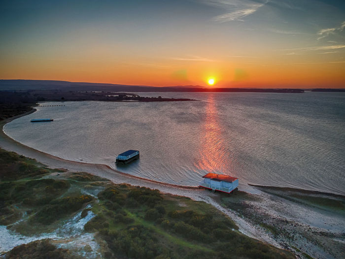 Studland Bay Dorset Drone  HDR Hdr_Collection Aerial View Beach Beauty In Nature Day Dronephotography High Angle View Horizon Over Water Landscape Nature No People Outdoors Scenics Sea Sky Sun Sunlight Sunset Tranquil Scene Tranquility Travel Destinations Water