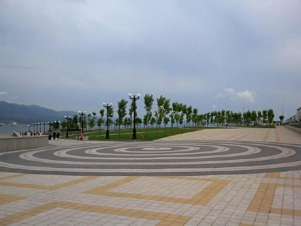 Novorossiysk Seafront Quay новороссийск набережная Набережная Адмирала Серебрякова Circle Circles Squares Pavement Walkside Footpath Walkpath Square Tranquil Days Tranquil Live Street City