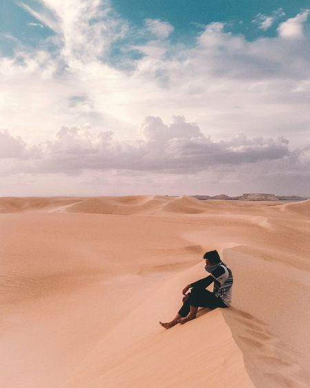 Sometimes it's good to be alone,, EyeEm Best Shots EyeEmNewHere Popular Photos Artofvisuals Siwa Oasis Egypt Photography Photography Desert Beauty In Nature Travel Lifestyles Landscape One Person Real People Men Environment First Eyeem Photo A New Beginning The Great Outdoors - 2019 EyeEm Awards The Mobile Photographer - 2019 EyeEm Awards The Traveler - 2019 EyeEm Awards My Best Photo