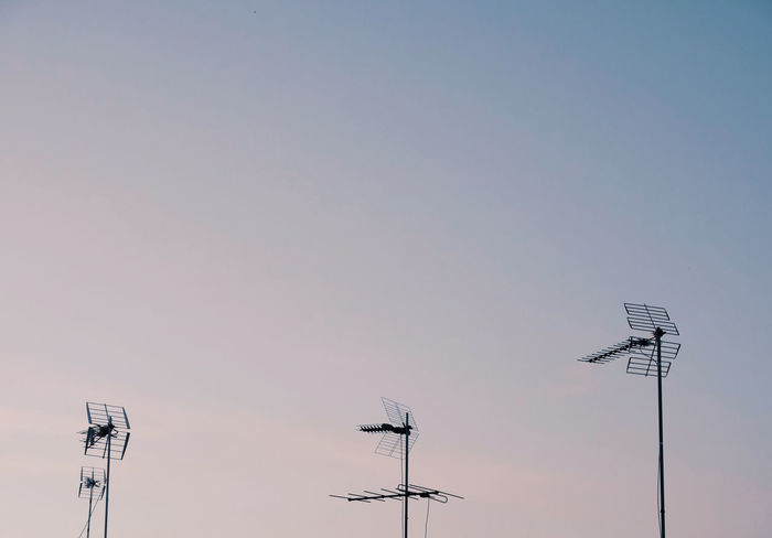 Sky Low Angle View Technology Antenna - Aerial Clear Sky No People Communication Sunset Antenna Copy Space Outdoors Telecommunications Equipment Built Structure Electricity  High Section Minimalism Minimalobsession Dawn Capture Tomorrow