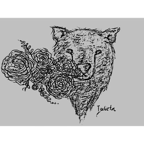 Flowers Drawing Draw Orso Animals Animallovers Paint Painting EyeEmArt ArtWork