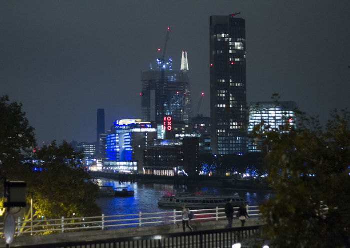 Architecture City Night Oxo Tower Southbank Urban Skyline Waterloo Bridge Waterloobridge