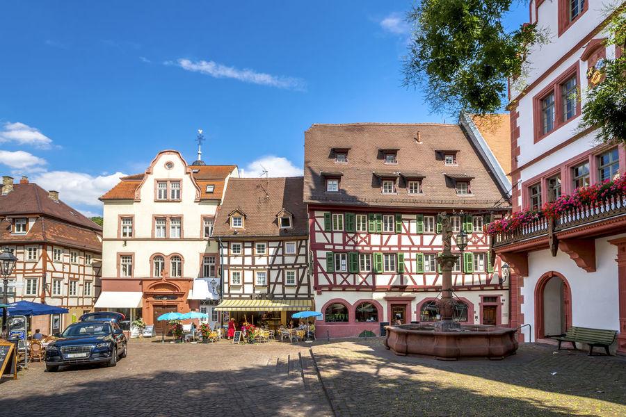Weinheim, Germany Baden-Württemberg  Badische Bergstrass Castle Hessische Bergstrasse Panorama Weinheim Building Exterior Germany Hachenburg Historical Schlosspark Wachenburg