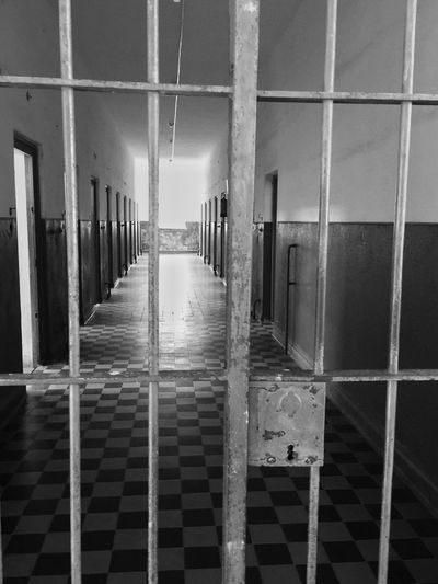 sinister corridor Bnw_life Bnw_captures Bnw_collection Bnw_corridor Bnw_friday_eyeemchallenge Architecture No People Built Structure Security Indoors  Building