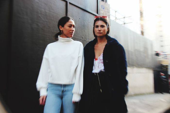 It's all about the eyewear at London Fashion Week Aussies Eyewear Design Eyewear EyeEm Selects Three Quarter Length Real People Young Adult Two People Standing Lifestyles Well-dressed Young Women Day Friendship