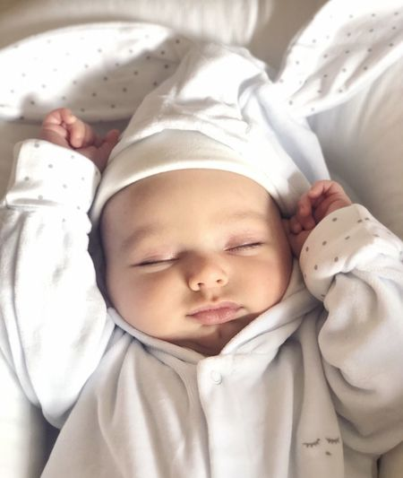 Eyes Closed  Child Relaxation Sleeping Childhood Bed Lying Down Baby Resting Newborn Cute Cozy