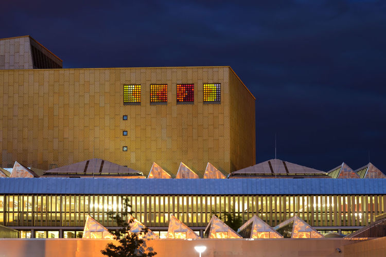 Berlin State Library @ Kulturforum Architecture Berlin City Urban Light Evening Building Germany Illuminated Europe No People Kulturforum Building Exterior Built Structure DE276_BERLIN_AK DE276_GERMANY_AK