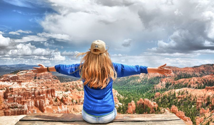 National Park Travel Destinations Bryce Canyon USA Outdoors Mountain Cloud - Sky Famous Place Bryce Canyon National Park Travel Photography Great View Only Women Sky Nature Beauty In Nature