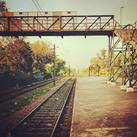 Chill place. Love Railway station Kirti Nagar Railways Instagood Instamood Friends Peace Love Fun