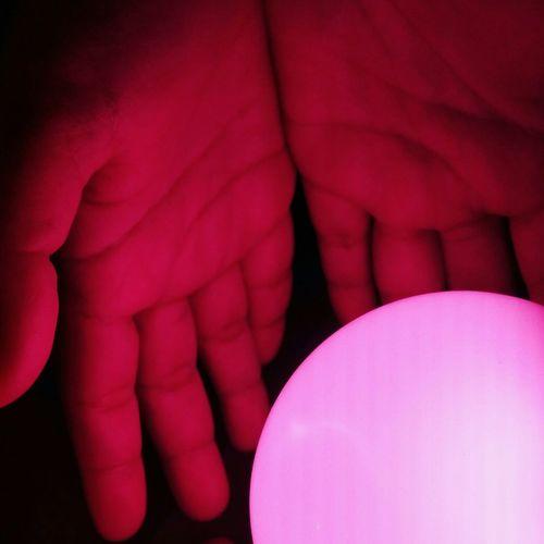 Pink light in the dark