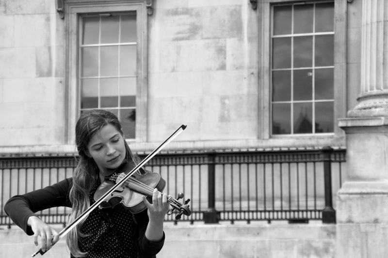 Sound Of Life a Violinist performing in the streets of London . She is one of many Street Performer playing Live Music for the pleasure of the public. Shades Of Grey