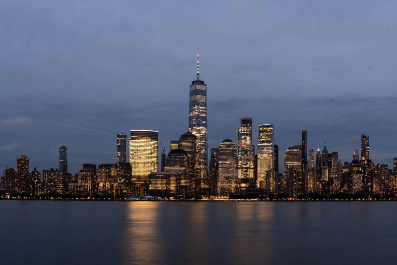 New york city skyline with freedom tower