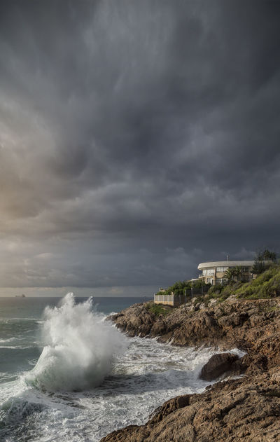Storm ridge. f2.8; 1/2500s; ISO 100; FL18mm. © Juan Manuel Sáenz de Santa María, 2016 Beach Beauty In Nature Cloud - Sky Clouds Cyclone Day Extreme Weather Nature No People Outdoors Power In Nature Sea Seascape Storm Storm Cloud Stormy Weather Tarragona Tarragonaturisme Thunderstorm Water Wave