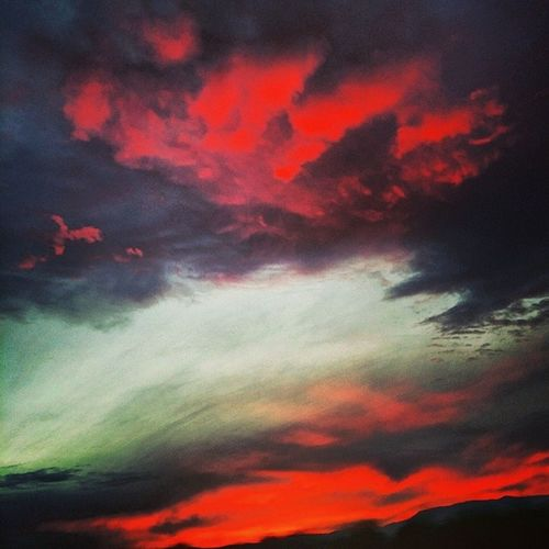 Fire in the sky. Sunset California Foothills Sky cloudporn clouds