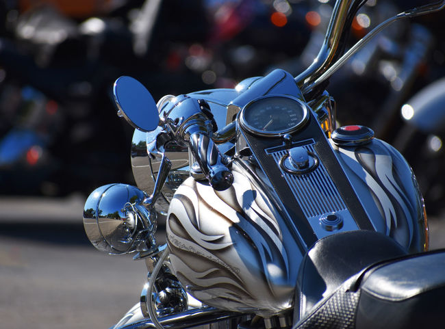 Close up of fancy motorcycle Shiny Bird Blue Close Up Close-up Day Focus On Foreground Front View Headlights Land Vehicle Mirrors Mode Of Transport Motorcycle Motorcyle No People Outdoors Ride Scooter Slick Stationary Street Transportation