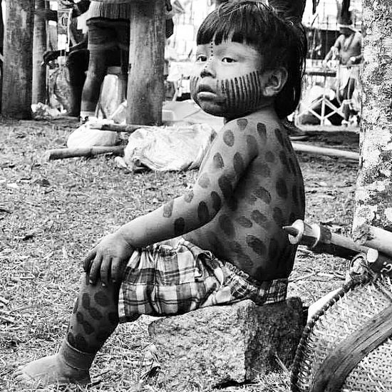 Taking Photos Tribals Boy Curumim Welcome To The Jungle Beautiful Brazil