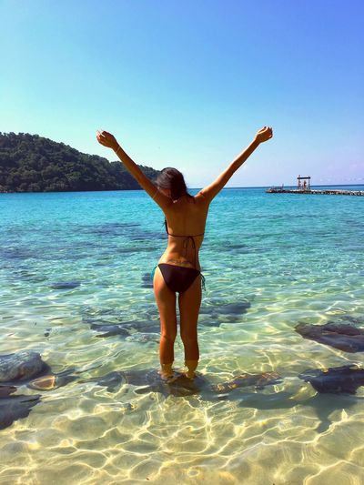 Thailand Koh Kood Deep Blue Deep Blue Sea Sea And Sky Island Girl Beach Sun Islandlife Thai Bikini
