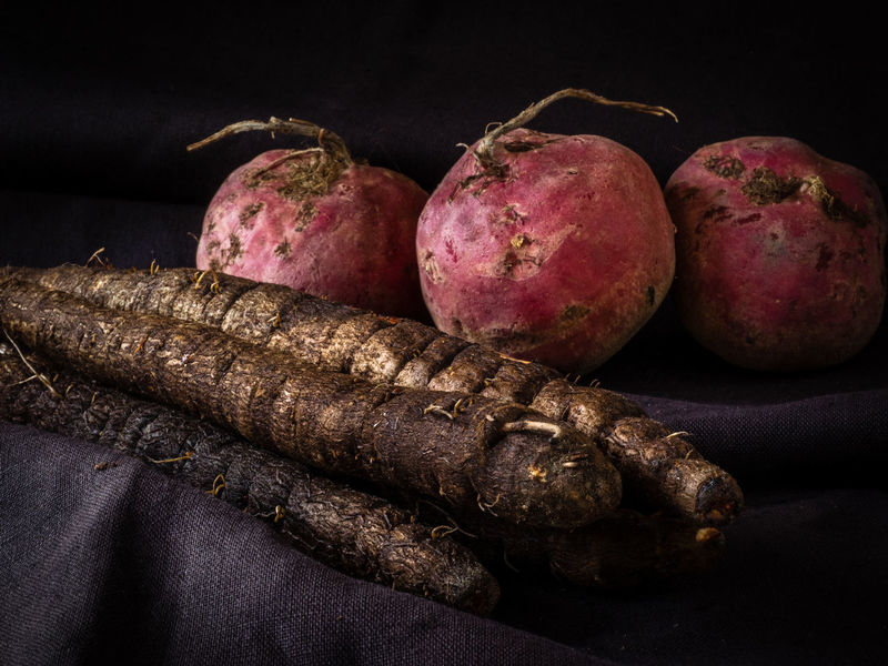 Beetroot Black Black Salsify Close-up Food Healthy Eating Red Salsify Still Life Vegetables Natures Diversities