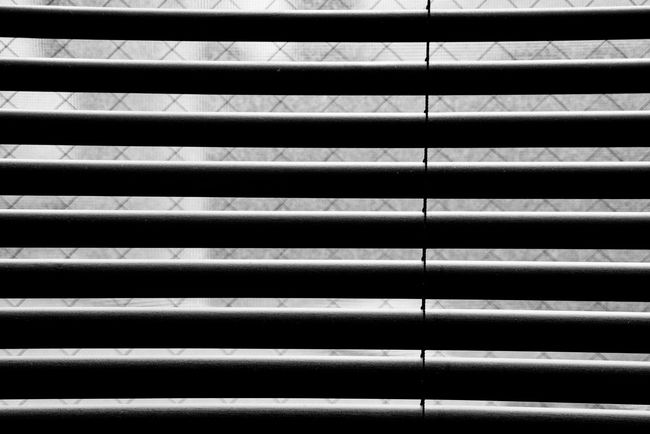 Blind Window Frame Morning Light Black & White Backgrounds Full Frame Pattern No People Repetition Metal Close-up Textured  Indoors  Day Architecture In A Row Built Structure Silver Colored Grate Protection Metal Grate Security Design Steel Ceiling