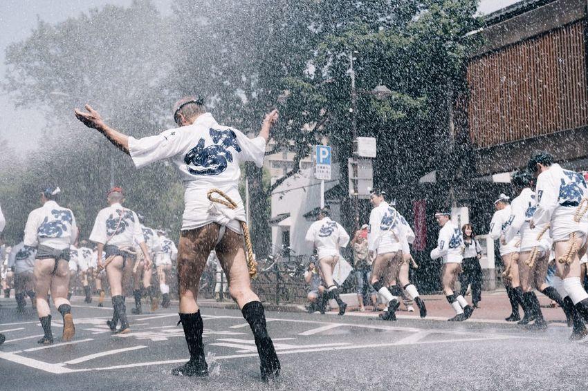 山笠 博多 Motion People Adult Outdoors Only Men Japan EyeEm Best Shots Lifestyles Festival Fujifilm X-t2